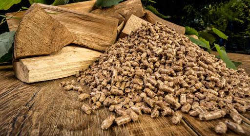 granulés bois en photo